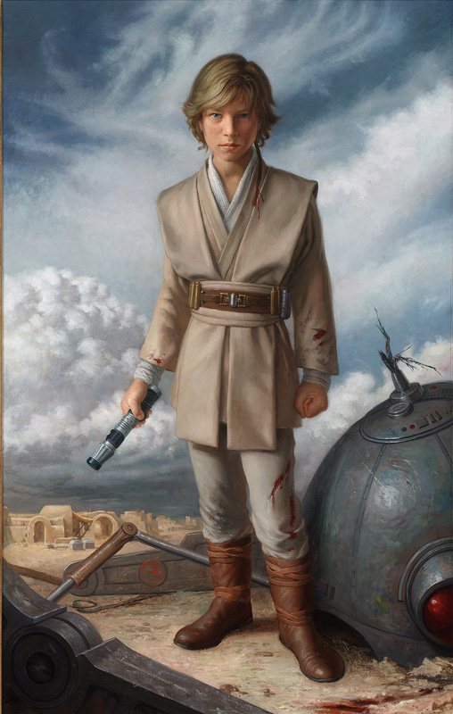 Anakin Padawan, 2009, oil on canvas, 44 x 28.