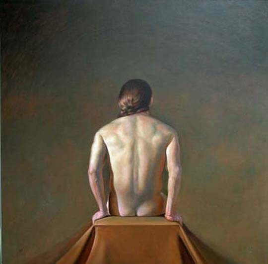 Back II (Joshua) by Martha Mayer Erlebacher, 2003, oil on canvas, 42 x 42.