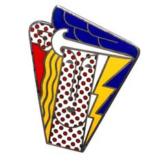 Pendant of an abstract face by Roy Lichtenstein. Courtesy of the Museum of Arts and Design.
