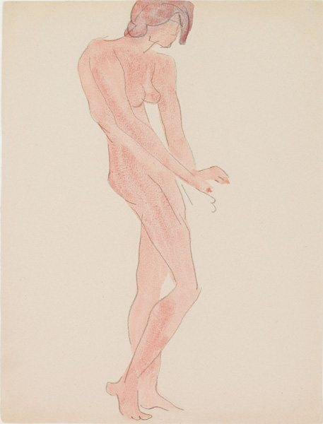 Female Figure #4 by Charles Demuth, c. 1912-14, watercolor and pencil on paper.