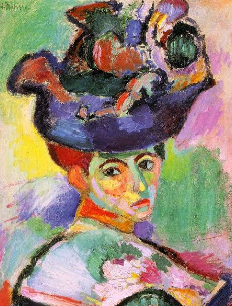 Woman with a Hat (detail) by Henri Matisse, 1905, oil on canvas.