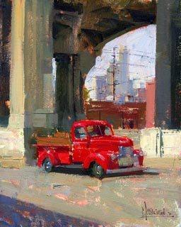 Pickup Truck by Jennifer McChristian, oil painting.