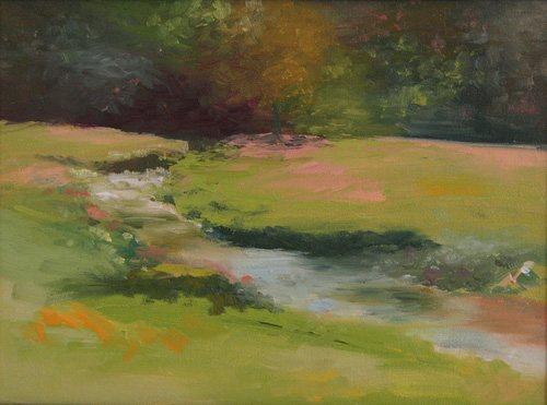 Jennifer King's plein air painting, Little Brook.