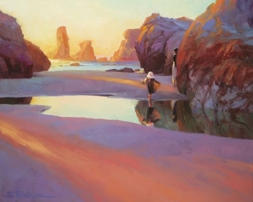 Sometimes, when you feel that you're stuck going nowhere, a little jump is all it takes to make the next big splash. Reflection by Steve Henderson.