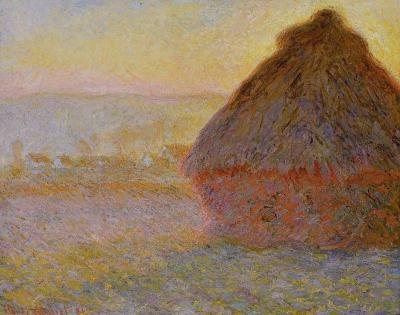 Meule, Soleil Couchant by Claude Monet, oil painting, 1890-91.