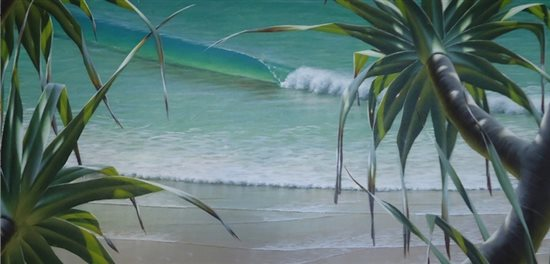 Seascape by Mark Waller, acrylic painting.