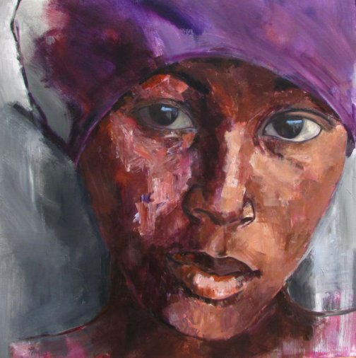 Insh'allah by Marittie de Villiers, acrylic on canvas, 59 x 59.