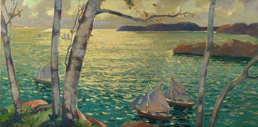 From the Rockport Shore, Maine by Jonas Lie, ca. 1926-27, oil painting.
