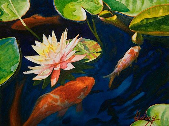 In the Spring Garden IV, watercolor, 12 x 16.