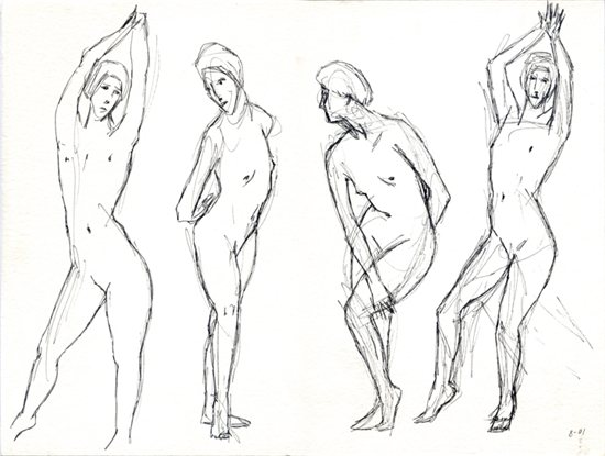Daniel Maidman's life drawing from August 2001