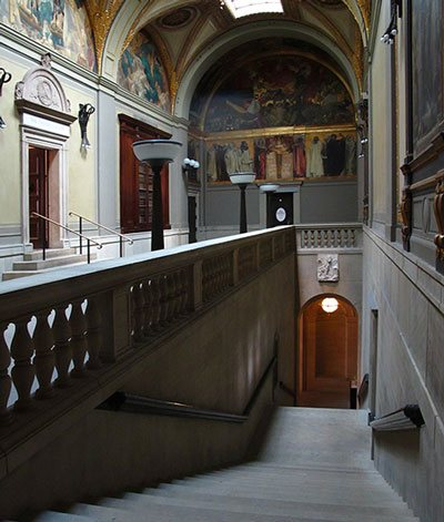 The Sargent Gallery in the Boston Public Library.