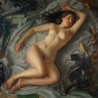 Sleeping Venus by Patricia Watwood, 2013, oil on canvas, 40 x 40.