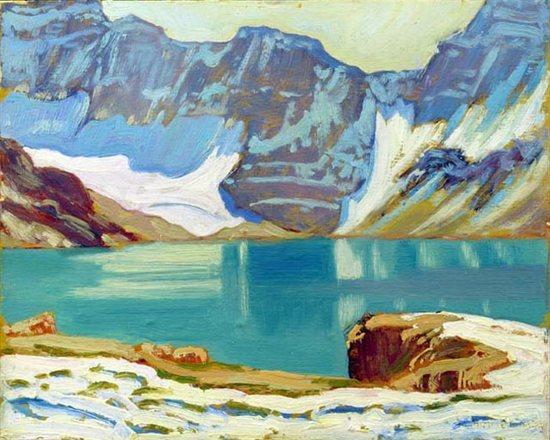 Lake McArthur, Yoho Park by J.E.H. MacDonald, oil painting, 1924.