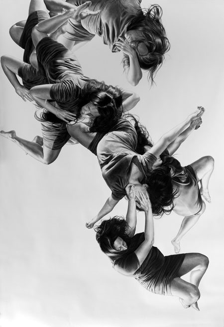 Pleiades by Leah Yerpe, 72 x 107, charcoal drawing, 2011.