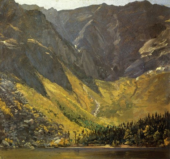 Great Basin, Mount Katahdin, Maine, by Frederic Edwin Church, 1852, oil painting.