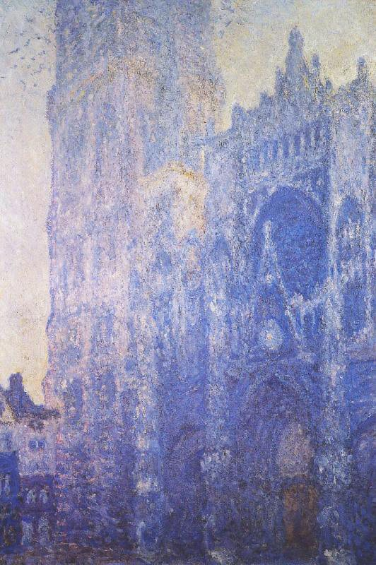 Rouen Cathedral, Morning by Claude Monet, 1894, oil on canvas.