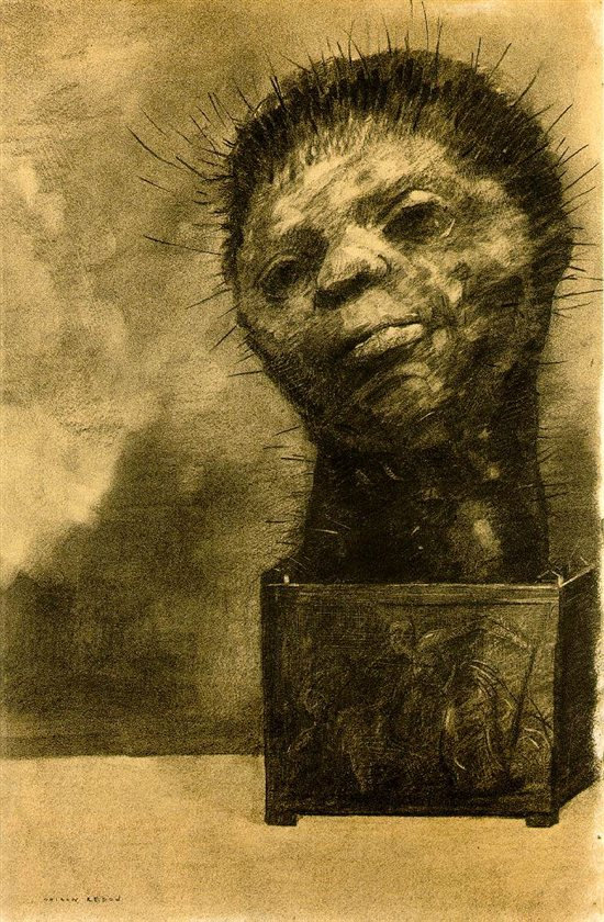 Odillon Redon's drawing, Cactus Man.