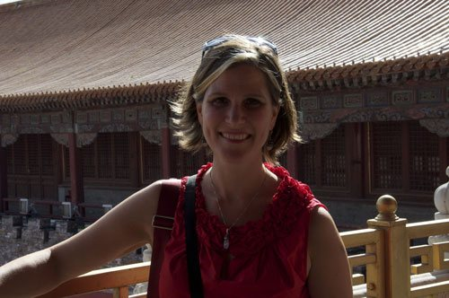 Here's me on the balcony at Tian' An Men.