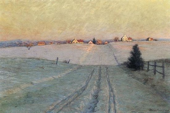 Late Winter Afternoon by Birge Harrison, 1908, oil on canvas.