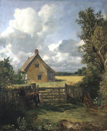 Plein Air Painting - The Cottage in a Cornfield by John Constable
