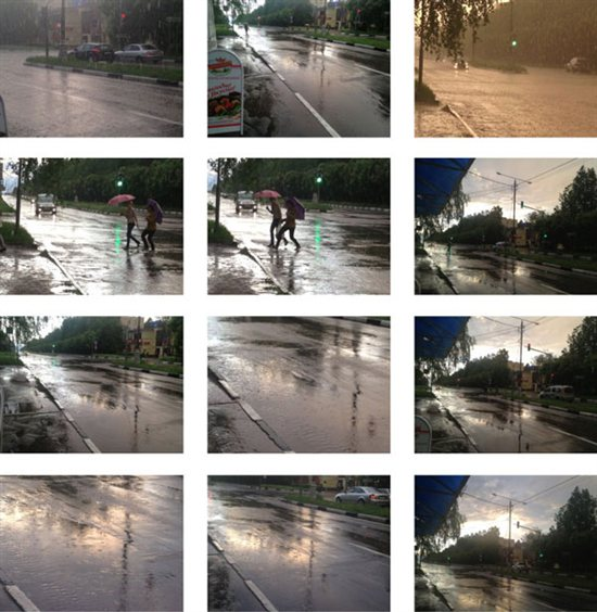 Reference photos for watercolor painting of a rain storm.