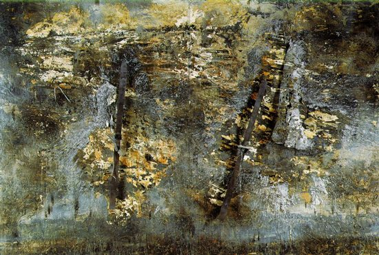 Jerusalem by Anselm Kiefer, mixed media painting.
