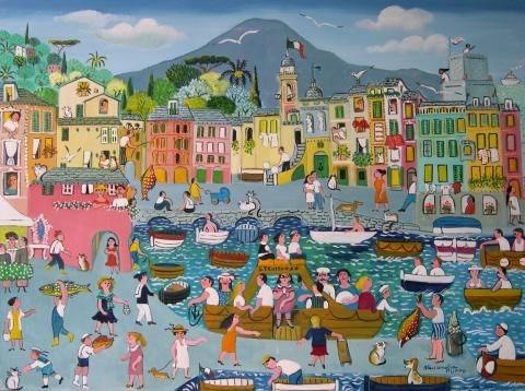 Camogli Port by Allesandra Puppo.