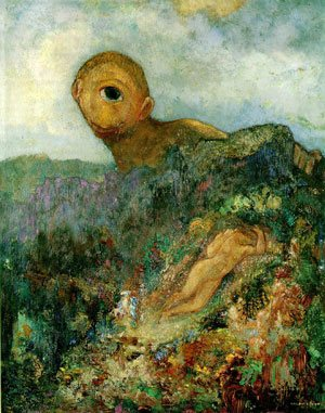 The Cyclops by Odilon Redon, c. 1914, oil on canvas, 64 x 51 cm.