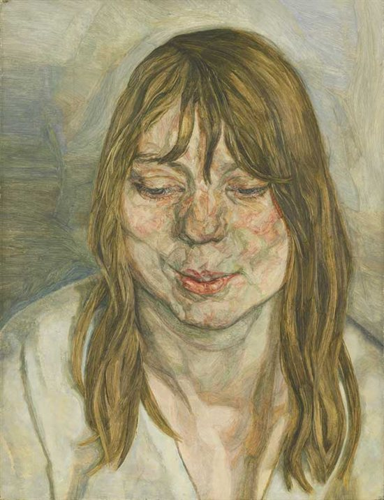 Woman Smiling by Lucian Freud, 1958-59, oil painting.