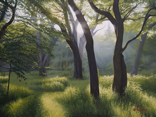 Meadow Walk IV by John Hulsey, 30 x 40, oil on canvas.