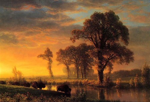 Western Kansas by Albert Bierstadt, 1875, oil on canvas.