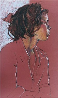 Erin by Eileen Healy, pastel drawing.
