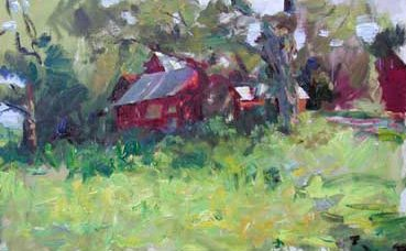 Vermont Farmhouse by Clayton Beck, oil painting