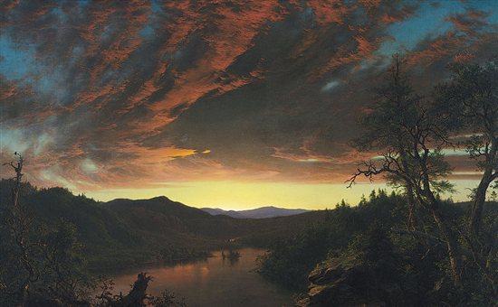 Twilight in the Wilderness by Frederic Edwin Church, oil painting, 1860.