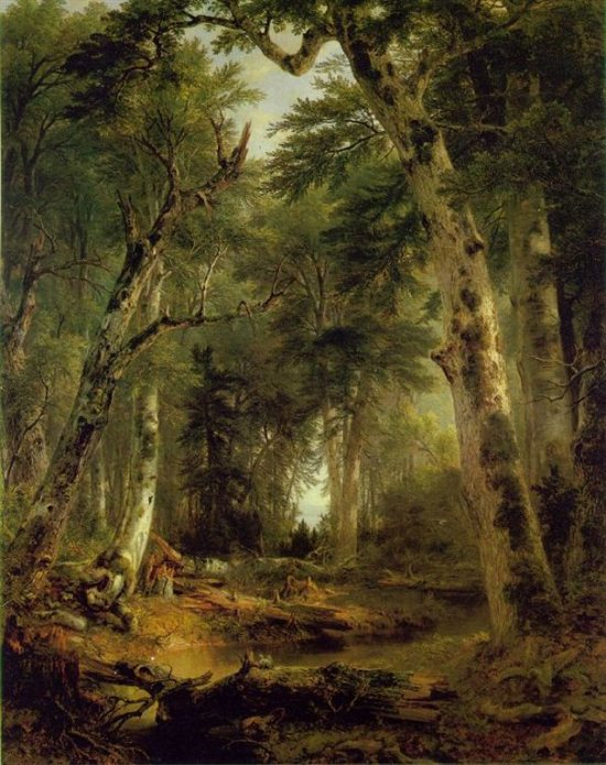 In the Woods by Asher B. Durand, oil on canvas, 1855.