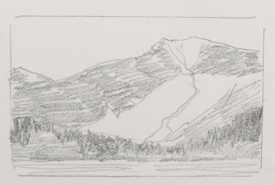 Drawing of Convict Lake by Colleen Howe