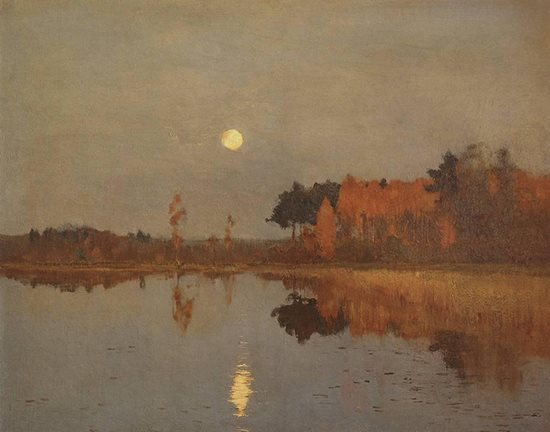 Twilight Moon by Isaac Levitan, 1899.