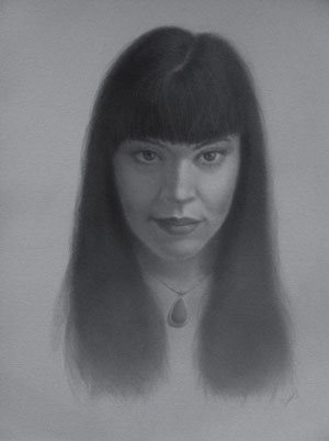 Portrait painting of Tamar. I approached her via direct message on Facebook.