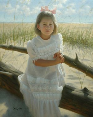 Portrait of Margaret by Brian Neher, oil portrait painting, 30 x 24.