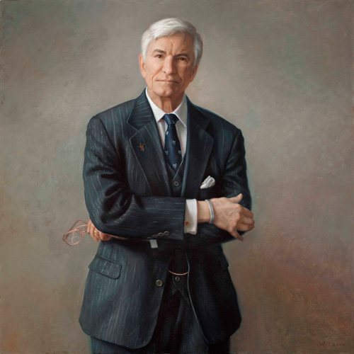 Dr. Kenneth R. Smith, Jr. by Patricia Watwood, 2010, oil on canvas, 40 x 40. Collection of Saint Louis University.