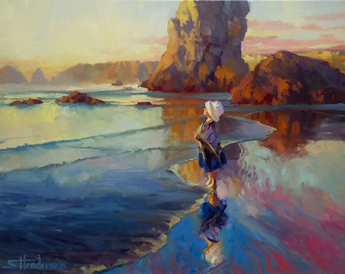 Just because we're in our comfort zone as painting artists, doesn't mean that we're not facing big, exciting challenges. Bold Innocence by Steve Henderson of Steve Henderson Fine Art.