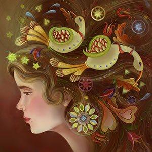 Distlefink Girl by Christina Hess, digital.