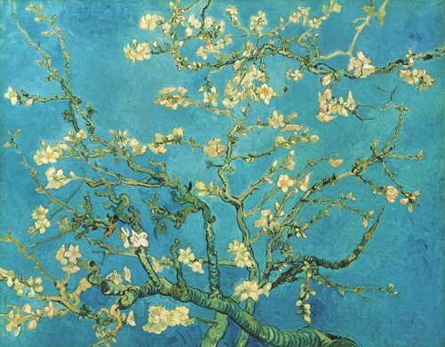 Almond Blossom by Vincent van Gogh, 1890, oil painting, 28 15/16 x 36¼.