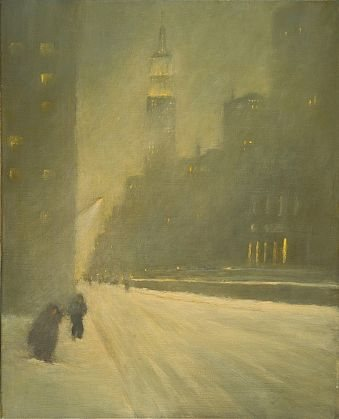 New York City, Winter 2006, The Storm by Nina Maguire, 2006-2011, acrylic on canvas, 30 x 24.