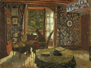 Interieur by Edouard Vuillard, oil painting, 1902.