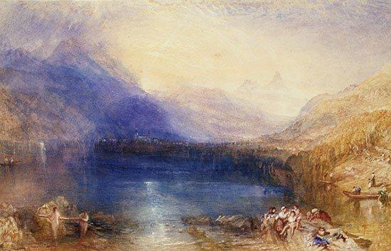 Lake of Zug by JMW Turner.