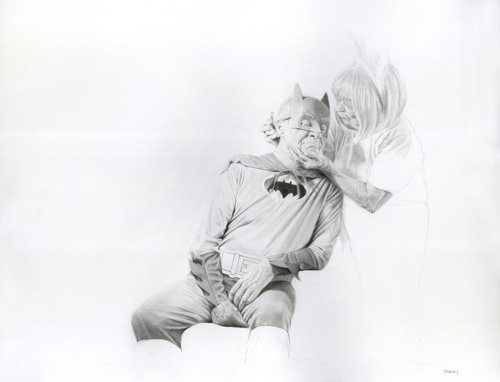 Kinder Love by Jason Bard Yarmosky, 2011, pencil drawing, 18 x 24.
