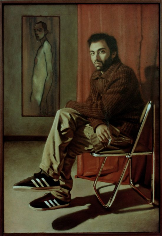 F. Galano in His Studio by Valerio D'Ospina, oil on canvas.
