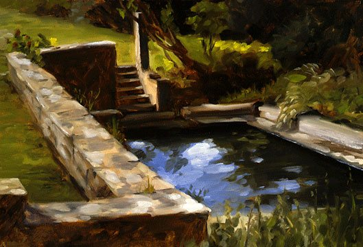 Breton Wash Basin by Edward Minoff, oil painting.