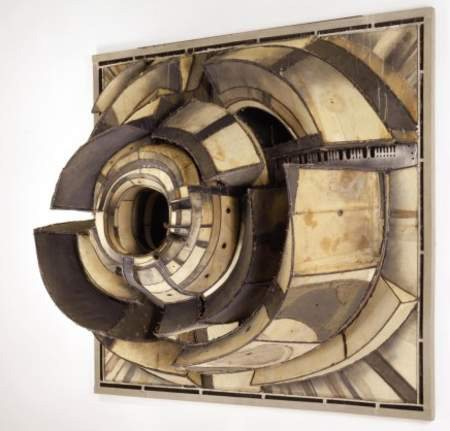 Untitled by Lee Bontecou, 1962, welded steel and canvas. 68 x 72 x 30.